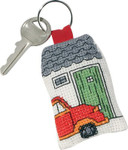 114316 Permin Keyring  Red Citroen