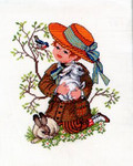 7714275 Eva Rosenstand Cross Stitch Kit Boy with Rabbit