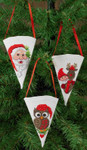 015242 Permin Santa, Owl, Reindeer/Elf Cones (3 designs)