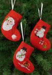 015245 Permin Cones Santa & Snowmen (3 designs)