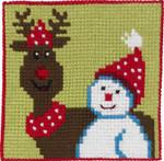 9241 Permin Snowman & Moose