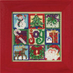 MH145301 Mill Hill Joy of Christmas (2015) Buttons and Bead Kit