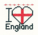 HCK647A Heritage Crafts I Love England - Mini Kit