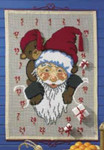 341205 Permin Kit Santa/Teddy Bear Advent Calendar