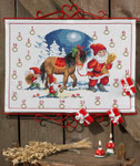 345223 Permin Kit Santa w/Horse Advent Calendar