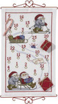 341876 Permin Kit Advent Calendar - Santa Skis Sleigh