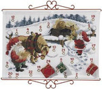 342623 Permin Kit Advent Calendar - Horses in Snow