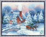 RL100041 Riolis Cross Stitch Kit Christmas Eve