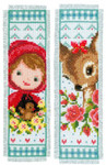 PNV150895 Vervaco Kit Bambi and Red Riding Hood Bookmarks (set of 2)