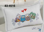 834516 Permin Owls on Sprig - Cushion