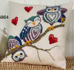 834864 Permin Owls on a Stick - Cushion