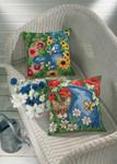 834149 Permin Blue Can & Cat Pillow  (Bottom)