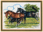 7712473 Eva Rosenstand Cross Stitch Kit Horses w/foal
