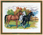 7712474 Eva Rosenstand Cross Stitch Kit Three Horses