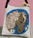 929181 Permin Cross Stitch Kit Horse w/flowers Bag