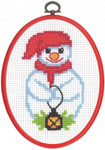 124264 Permin Cross Stitch Kit Snowman
