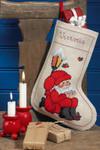 415202 Permin Cross Stitch Kit Santa Stocking
