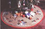 451240 Permin Cross Stitch Kit Tree Skirt - Snowman