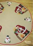 453262 Permin Cross Stitch Kit Santa Hearth  Round Tree Skirt