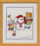 923313 Permin Cross Stitch Kit Winter Fun  Bobbi Happy Friends