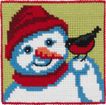 9243 Permin Cross Stitch Kit Snowman with Bird