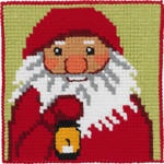 9242 Permin Cross Stitch Kit Santa with Lantern