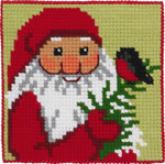 9244 Permin Cross Stitch Kit Santa with Bird