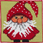 9245 Permin Cross Stitch Kit Santa Elf