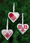 014272 Permin Heart Ornaments (White)