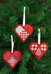 014273 Permin Heart Ornaments (Red)
