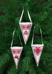 014274 Permin Cone Ornaments (White)