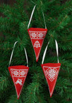014275 Permin Cone Ornaments (Red)