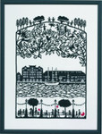 "7714370 Eva Rosenstand Kit Papercut Harbour 16.4"" x 22""; Linen; 26ct"