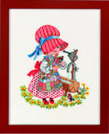 7714274 Eva Rosenstand Cross Stitch Kit Girl with Water Trough