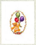 7745367 Eva Rosenstand Teddy Bear With Balloons Card