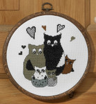 125197 Permin Owl Family