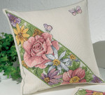 834335 Permin Roses & Butterflies  Pillow