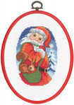 125294 Permin Cross Stitch Kit Santa