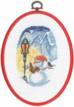 125292 Permin Cross Stitch Kit Snowman