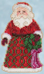 JS205105 Mill Hill Kit Greetings Santa by Jim Shore (2015)