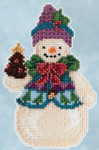 JS205102 Mill Hill Kit Pinecone Snowman by Jim Shore (2015)