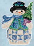JS205101 Mill Hill Kit Evergreen Snowman by Jim Shore (2015)