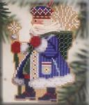 MHWS8 Mill Hill Santa Ornament Kit Frosty Santa (2001)