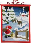 704613 Permin Kit Christmas Bellpull  (long stitch)