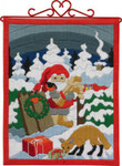 704612 Permin Kit Christmas Bellpull  (long stitch)