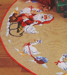 450290 Permin Tree Skirt - Santa And Geese