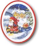 121265 Permin Santa Pulling Sled