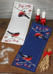 754623 Permin Kit Bullfinch (White)  Table Runner