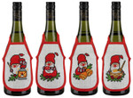 783521 Permin Kit Christmas  Bottle Aprons