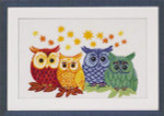 703303 Permin Colored Owls